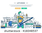 illustration of vector modern... | Shutterstock .eps vector #418348537