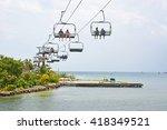 roatan  honduras  april 12 ... | Shutterstock . vector #418349521