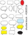 word bubbles | Shutterstock . vector #4183516