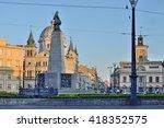 freedom square. lodz  poland | Shutterstock . vector #418352575