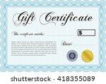 formal gift certificate...   Shutterstock .eps vector #418355089