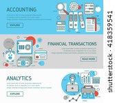 accountant horizontal banners... | Shutterstock .eps vector #418359541