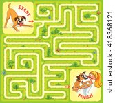 help the dog to find the right...   Shutterstock .eps vector #418368121