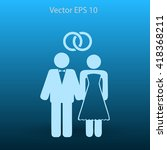 marriage vector icon | Shutterstock .eps vector #418368211