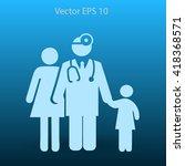 family practice vector... | Shutterstock .eps vector #418368571