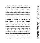 tribal brushes black on white... | Shutterstock .eps vector #418370851