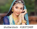beautiful women dressed persian  | Shutterstock . vector #418372489