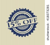 15  off rubber stamp with... | Shutterstock .eps vector #418373281