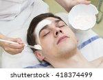process of massage and facials... | Shutterstock . vector #418374499