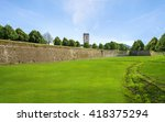 medieval city of lucca  ... | Shutterstock . vector #418375294