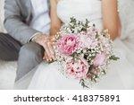 bridal bouquet | Shutterstock . vector #418375891