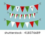 cute bunting flags with letters ...
