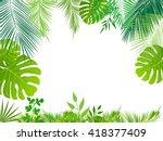 vector tropical jungle... | Shutterstock .eps vector #418377409