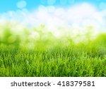 grass background | Shutterstock . vector #418379581