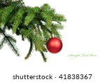 pine branches and christmas... | Shutterstock . vector #41838367