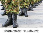 army   military boots  soldiers ...   Shutterstock . vector #418387399