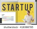 startup creative design...   Shutterstock . vector #418388785