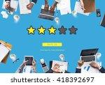 customer feedback comment vote... | Shutterstock . vector #418392697