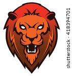 roaring lion head mascot | Shutterstock .eps vector #418394701