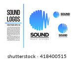 sound logo vector illustration  | Shutterstock .eps vector #418400515