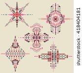 vector tribal ethnic ornament.... | Shutterstock .eps vector #418404181