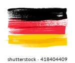 germany colorful brush strokes... | Shutterstock .eps vector #418404409