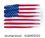 usa american colorful brush... | Shutterstock .eps vector #418405531