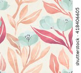 seamless floral pattern on... | Shutterstock . vector #418406605