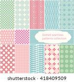 polka dot   vector dotted... | Shutterstock .eps vector #418409509