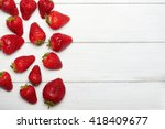 Strawberry Fruits On The Left...