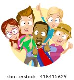 vector illustration of best... | Shutterstock .eps vector #418415629