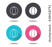 icon black pink and blue beach... | Shutterstock .eps vector #418418791