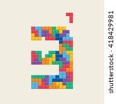 "logo number ""3""  video game... | Shutterstock .eps vector #418429981"