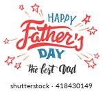 happy father's day hand... | Shutterstock .eps vector #418430149