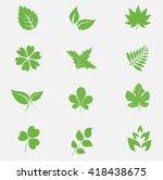 Leaf Icons Set Vector