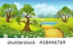 nature  landscape  vector... | Shutterstock .eps vector #418446769