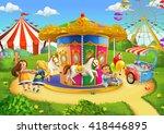 children in park | Shutterstock .eps vector #418446895