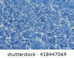Top View Blue Water Caustics...