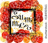 lettering summer on background... | Shutterstock .eps vector #418450561