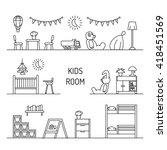 elements for children room...   Shutterstock .eps vector #418451569