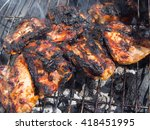 Burnt  Charred Chicken On A...
