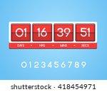 countdown timer for the website.... | Shutterstock .eps vector #418454971
