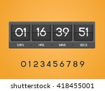 countdown timer for the website.... | Shutterstock .eps vector #418455001