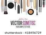 makeup cosmetics tools... | Shutterstock .eps vector #418456729