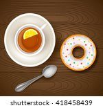 vector illustration of cup of... | Shutterstock .eps vector #418458439