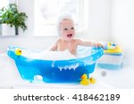 Happy Laughing Baby Taking A...