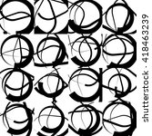 repeatable monochrome ...   Shutterstock .eps vector #418463239