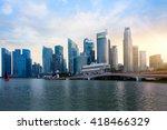Singapore City Skyline At...