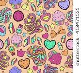candy pattern. | Shutterstock .eps vector #418471525
