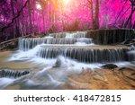 huay mae kamin waterfall ... | Shutterstock . vector #418472815